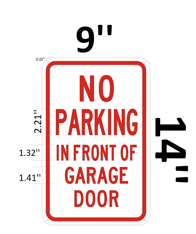 Amazon.com: No aparcar en frente de cochera placa de puerta ...