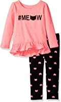 The Children's Place Baby Girls Peplum Top and Legging Set