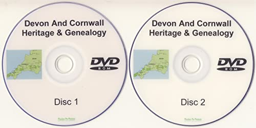 Devon & Cornwall Genealogy DVD-ROM 2 Disc Set of PDF eBooks Heritage Family Tree Software Ancestry