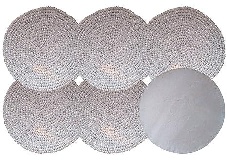 Yogiyogi miglior set di bianco perline forma rotonda decorativo