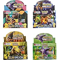 WP Sun and Moon Trading Card Game Set for Kids (Muticolour) - Pack of 2