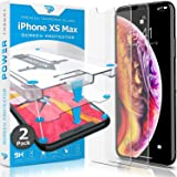 Power Theory iPhone Xs MAX Glass Screen Protector [2-Pack] with Easy Install Kit [Premium Tempered Glass]