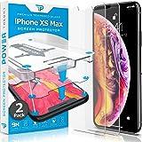 Power Theory iPhone Xs MAX 玻璃屏幕保护膜 [2 件装] 带简易安装套件 [优质钢化玻璃]