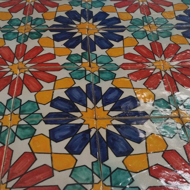 Casa Moro marokkanische Keramikfliese Eldina 10x10 cm handbemalte orientalische Fliese Kunsthandwerk aus Marokko Wandfliese f/ür sch/öne K/üche Dusche Badezimmer HBF8200