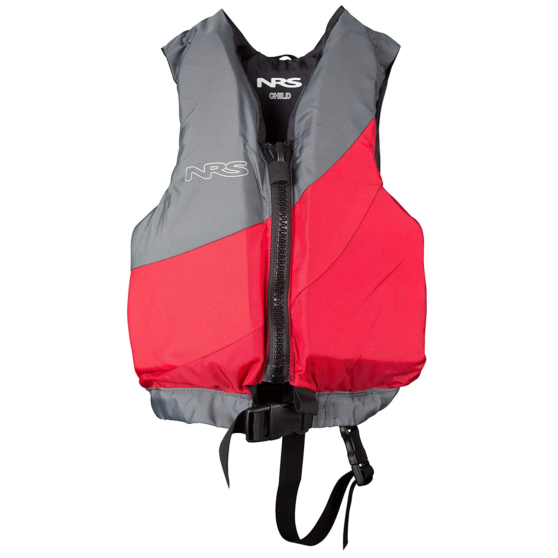 NRSクルー子Kids PFDパドル、Sup、カヤック、ラフティングライフジャケット  Red / Grey B01KE3O5TY