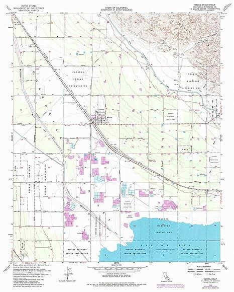 Amazon Com Yellowmaps Mecca Ca Topo Map 1 24000 Scale 7 5 X 7 5