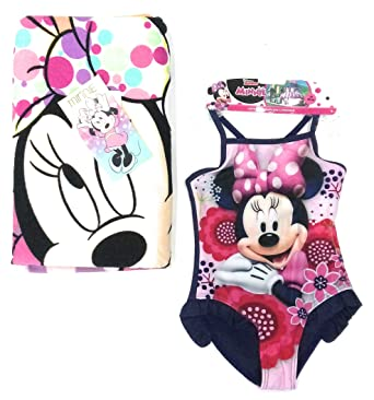 Bañador Minnie Mouse Disney + Toalla para niñas Minnie Mouse Disney Microfibra (4 años)