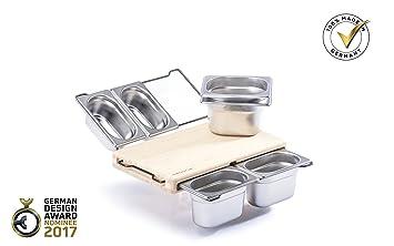 frankfurter brett mini bambus (behälterset: edelstahl, bügelfarbe ... - Edelstahlbehälter Küche