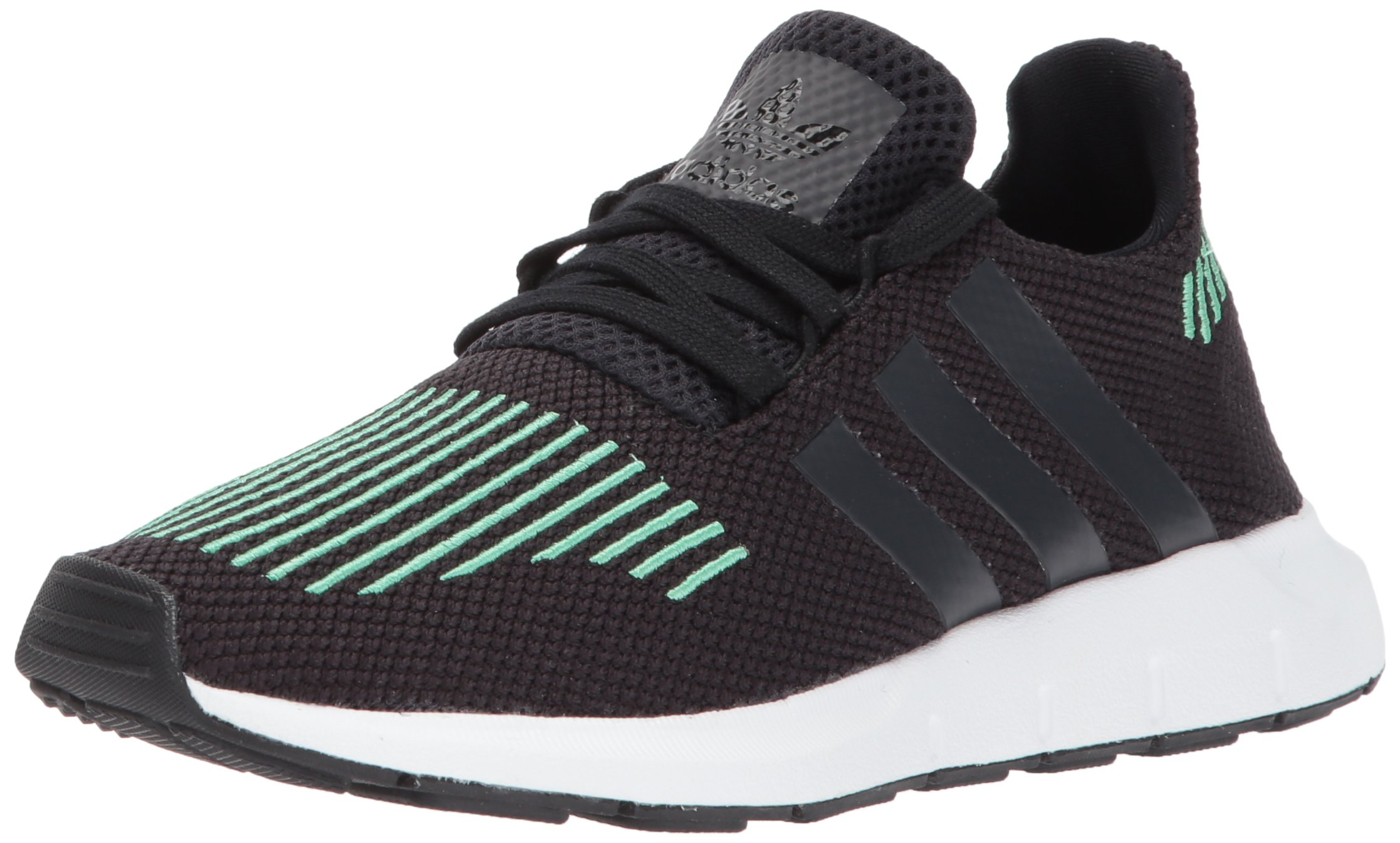 adidas Originals Boys' Swift J Running Shoe, Utility Black/Crystal White, 5 Medium US Big Kid