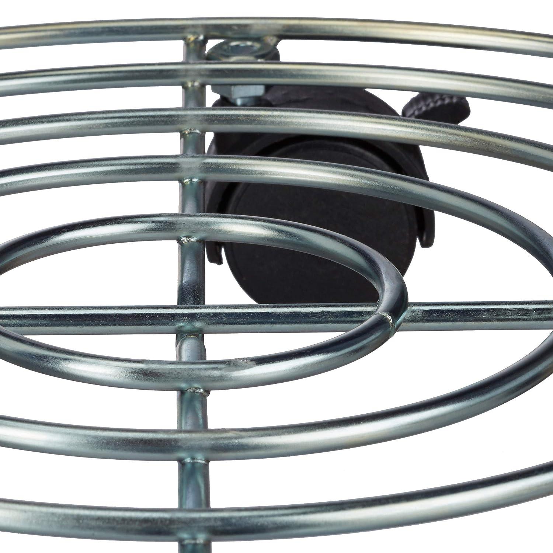 6 x 32 x 32 cm Blumenroller mit Bremse rund Silber Blumentopfuntersetzer aus Stahl Relaxdays 2X Pflanzenroller HBT: ca