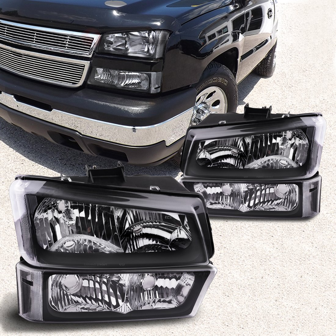 All Chevy 95 chevy headlights : Amazon.com: Headlight Assembly kit for 03 04 05 06 Chevy Avalanche ...