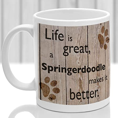 Springerdoodle mug, Springerdoodle, ideal present for dog lover