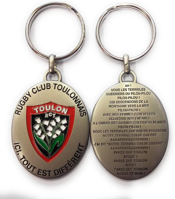 ROUGE ET NOIR RCT - Llavero de Metal con Palabra de Pilou-Pilou – Rugby Club Touonnis – Licencia Oficial: Amazon.es: Deportes y aire libre