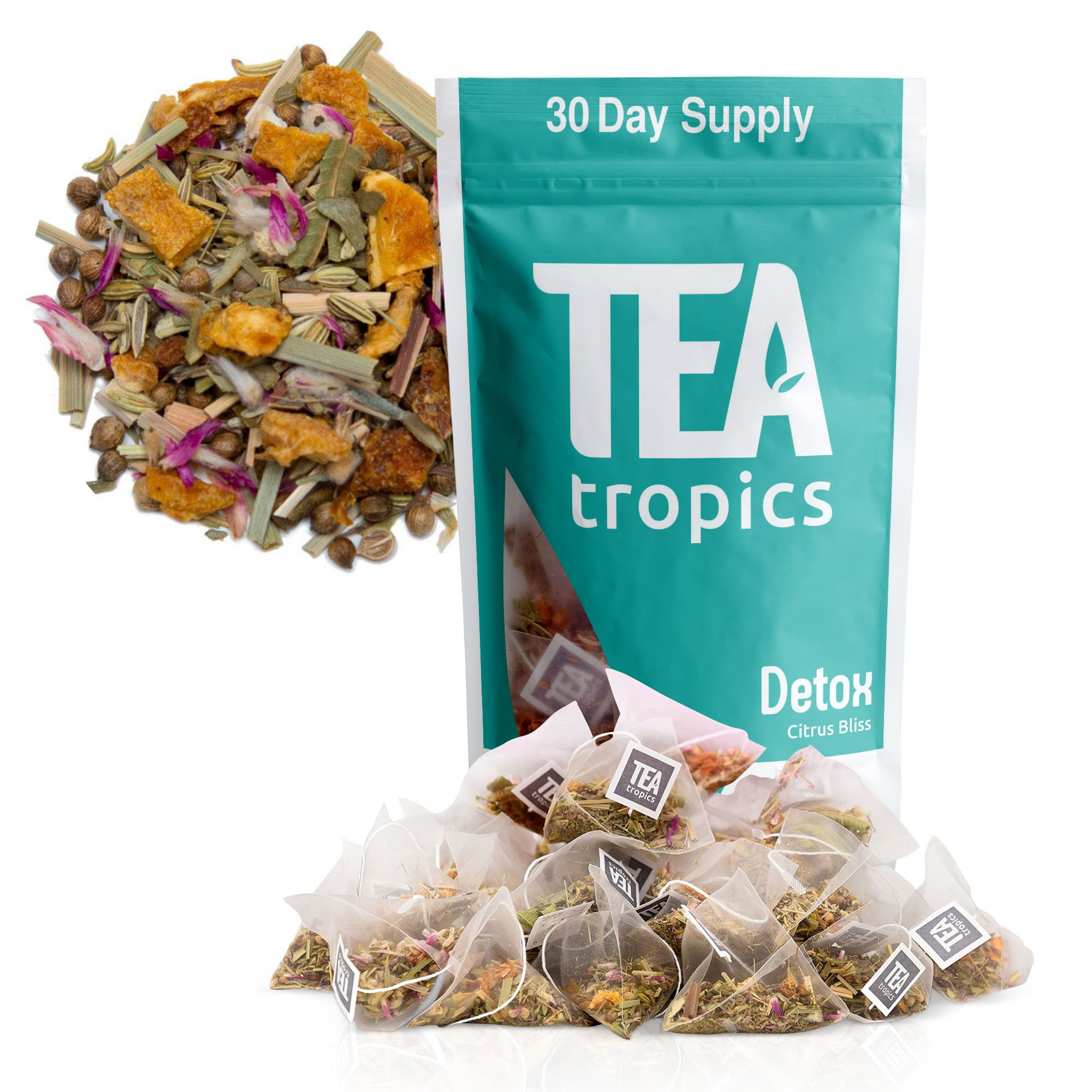Detox Tea For Weight Loss and Colon Cleanse, Teatox to Burn Body Fat For a Flat Belly, Natural Appetite Suppressant Weightloss Plan and Diet To Feel Lighter and More Energized, Laxative, 30 Days by TeaTropics