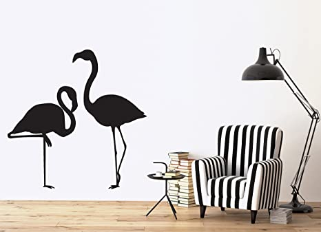 Vinyl Decal Wall Sticker Image Pink Flamingo Amazing Long Leg Bird n130