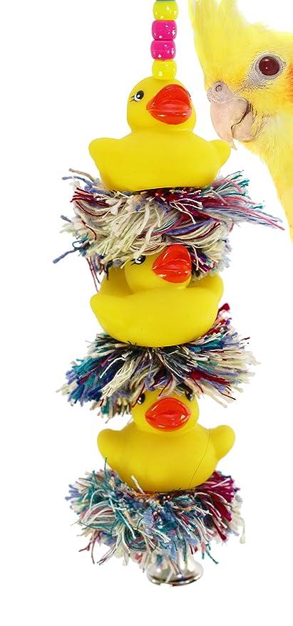 Bonka Bird Toys 1124 TRIPLE DUCKY PLUCKER BIRD TOY parrot cage toys cages african grey amazon conure