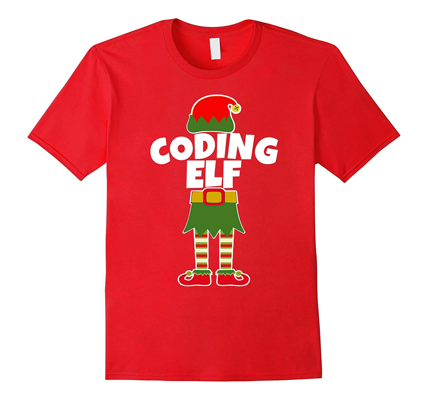 Coding Elf Christmas T Shirt Computer Medical Coder Program Anz