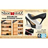 6-Pack Space-Saving Shoe Slotz Storage Units in Ivory   As Seen on TV   No Assembly Required
