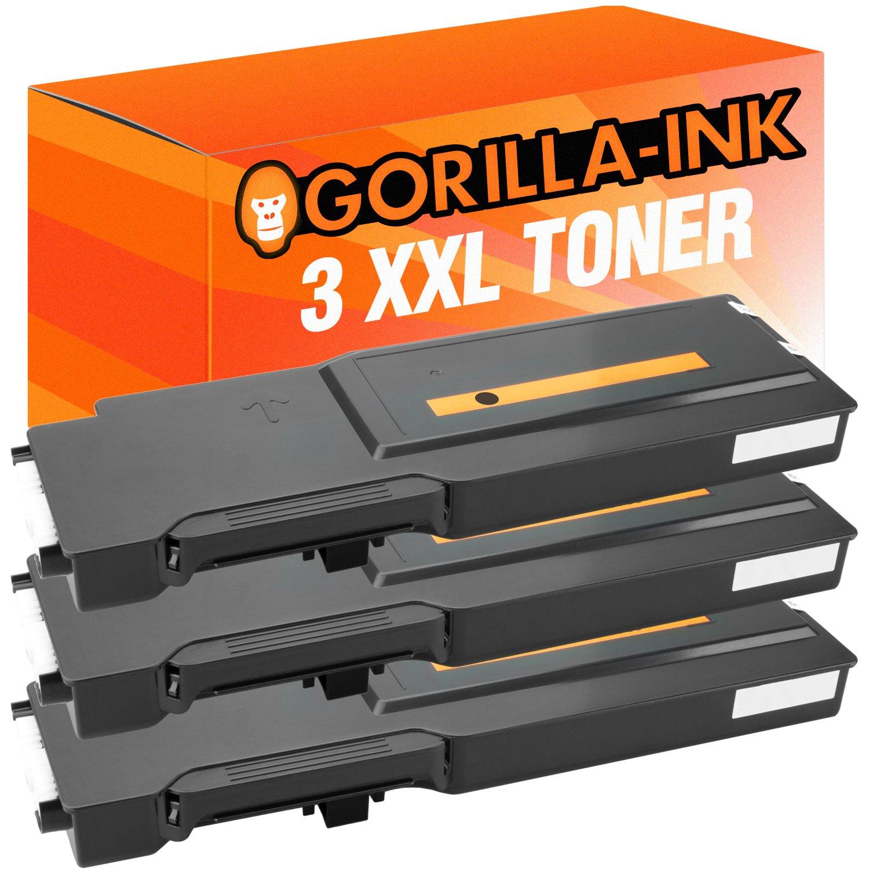 Gorilla-Ink® 3x Toner-Patronen XXL kompatibel zu Xerox 6600 schwarz WorkCentre 6605 N 6605 DN 6605 DNM WC 6605 N 6605 DN 6605 DNM Phaser 6600 Series 6600 N 6600 DN 6600 DNM