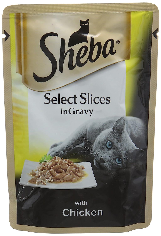 Sheba Select Slices - Bolsa para Gatos con Pollo en Gris: Amazon.es: Productos para mascotas
