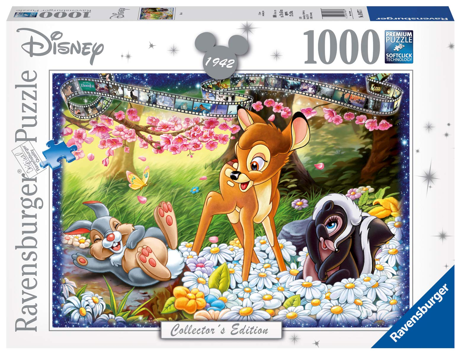 Ravensburger 19677 Disney Collector's Edition Bambi 1000 Jigsaw Puzzle for Adults-Every Unique, Softclick Technology Means Pieces Fit Together Perfectly