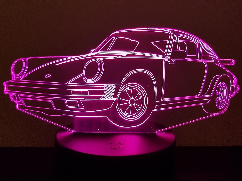 Lampe 3D Motif: Voiture Porsche 911