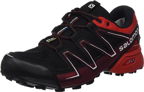 Salomon L39068700, Zapatillas de Trail Running para Hombre, Negro (Black/Radiant Red/BriqueX), 40 EU: Amazon.es: Zapatos y complementos