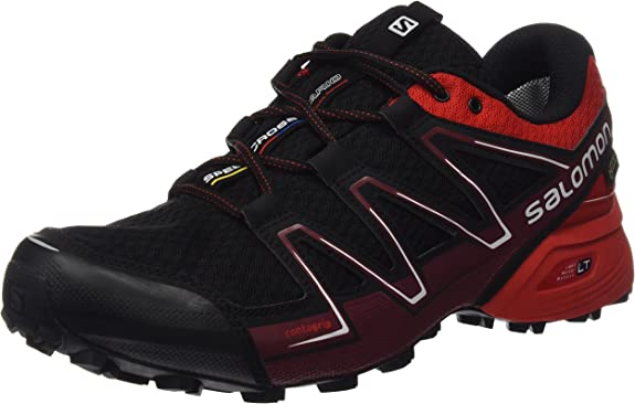 Salomon L39068700, Zapatillas de Trail Running para Hombre, Negro (Black/Radiant Red/BriqueX), 40 EU: Amazon.es: Zapatos y complementos