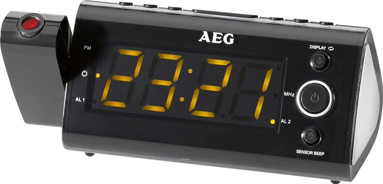 AEG MRC 4121P - Radio despertador con proyector de tiempo: Amazon ...
