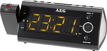 AEG MRC 4121P - Radio despertador con proyector de tiempo