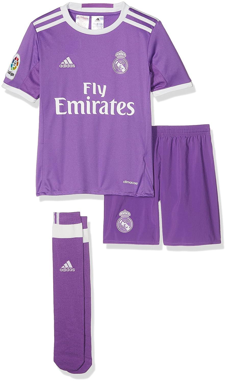 d1097a7c745eb adidas Performance Real Madrid Away 16 17 Boys Football Mini Kit - Purple   Amazon.co.uk  Sports   Outdoors
