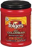 Folgers 100% Colombian, Medium-Dark Roast Ground Coffee, 10.3 Ounce