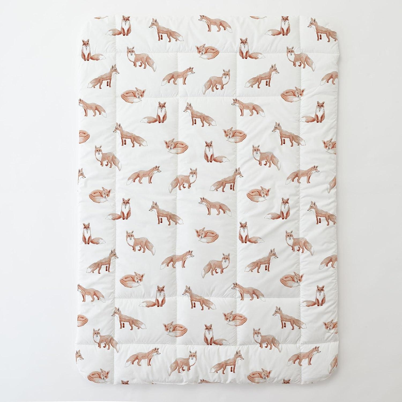Carousel Designs Watercolor Fox Toddler Bed Comforter
