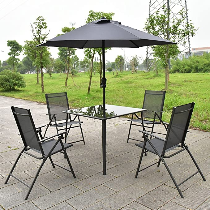 Amazon.com: giantex Patio Jardín Mesa de juego de sillas ...