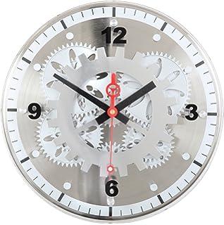 Amazon Com Maple S Large Moving Gear Wall Clock Rectangular Lens