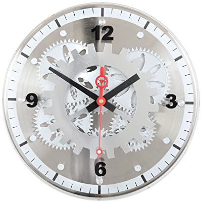 Maple's 12-Inch Moving Gear Wall Clock