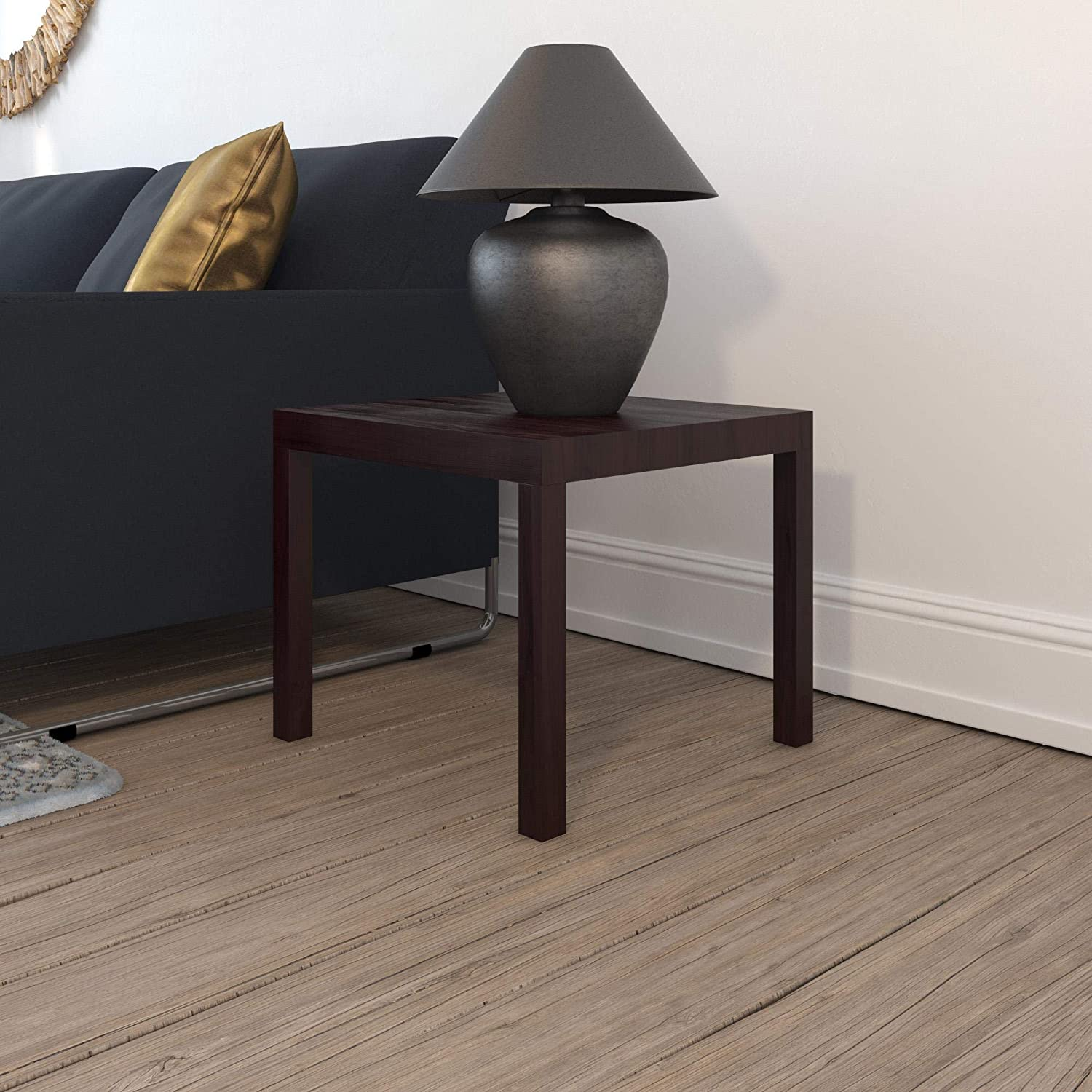 Ameriwood Home Parsons Modern End Table, Brown