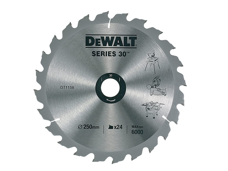 Dewalt dt1158qz 250 x 30mm x 24 tooth construction circular saw dewalt dt1158qz 250 x 30mm x 24 tooth construction circular saw blade amazon diy tools keyboard keysfo Image collections