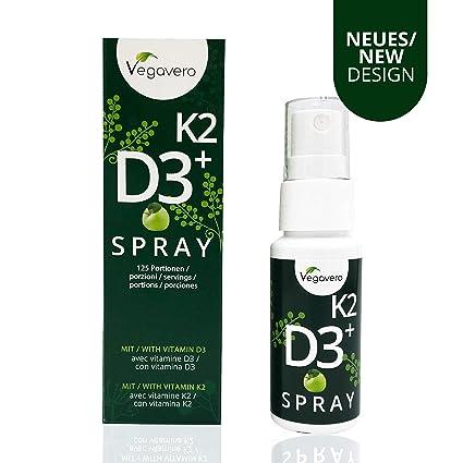 Vitamina D3 + K2 Spray | Calcio + Salud de Huesos + Piel + Dientes |