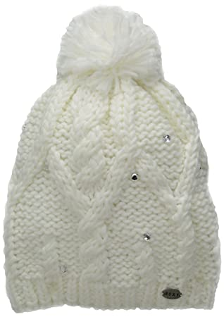 fe5801f8889e7 Roxy Shooting Star Bonnet Femme, Bright White, FR Fabricant : Taille Unique