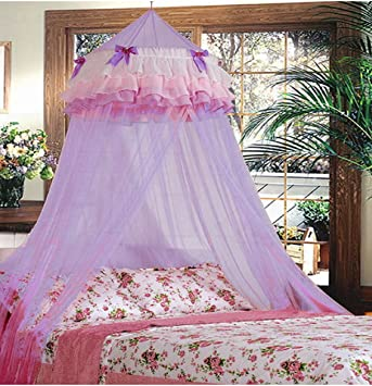Triple Lace Ruffle Princess Purple Lilac Canopy & Amazon.com: Triple Lace Ruffle Princess Purple Lilac Canopy: Home ...