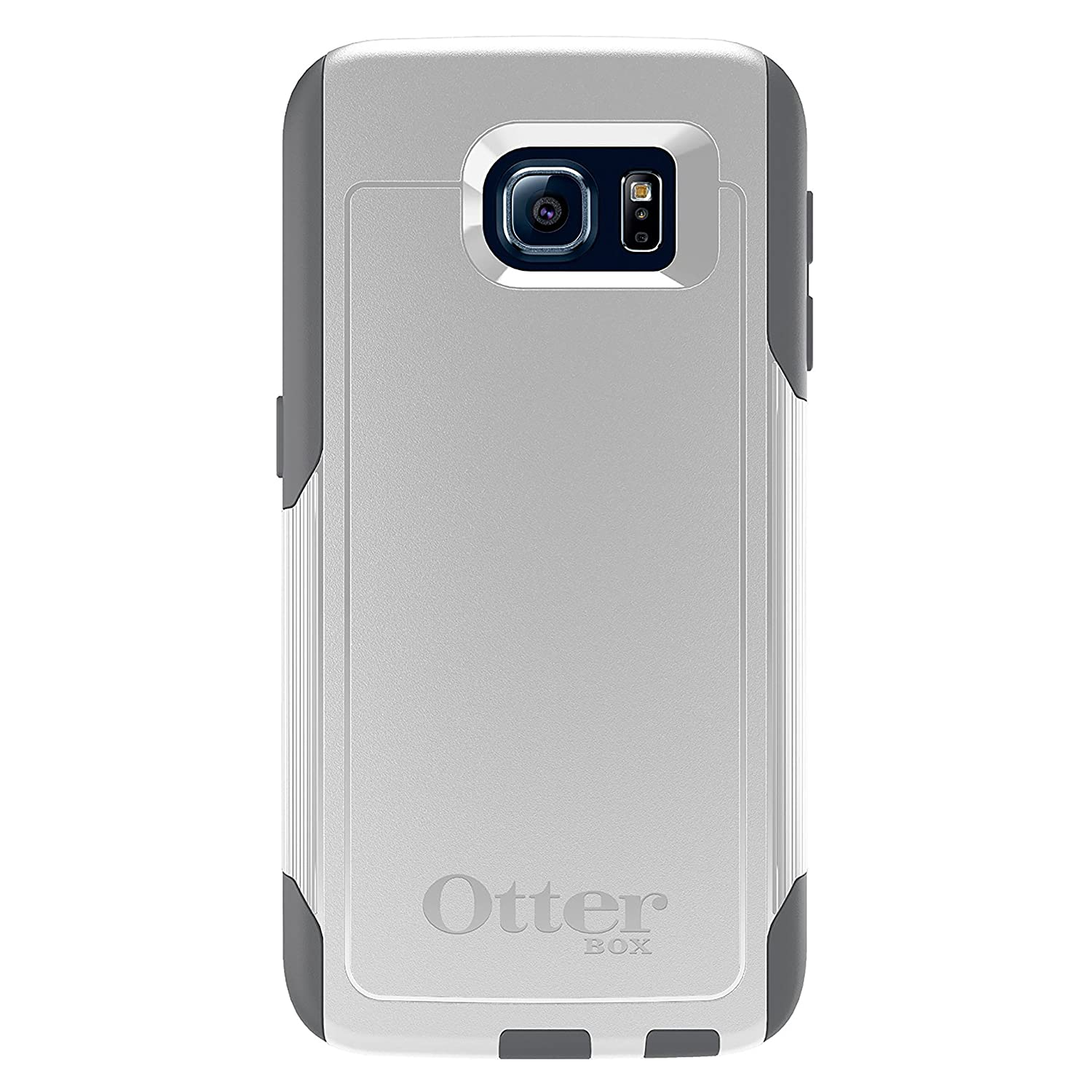 finest selection 128c5 02e87 OtterBox COMMUTER SERIES for Samsung Galaxy S6 - Retail Packaging - Glacier  (White/Gunmetal Grey)