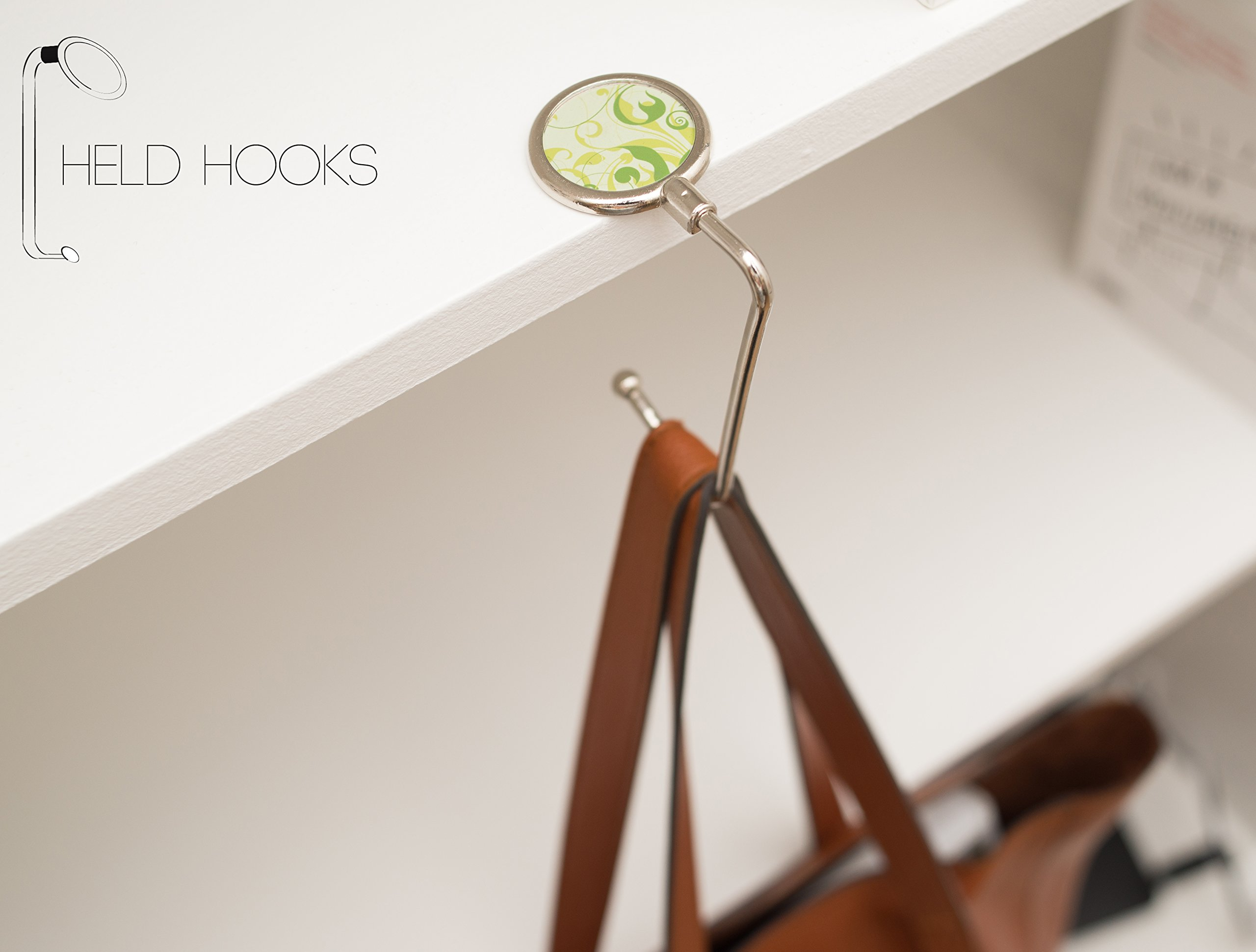 Held Hooks Purse Hanger | Lightweight Handbag Holder For Tables U0026 Desks  (Teal Origami)   BAG 4488 U003c Handbag Hangers U003c Clothing, Shoes U0026 Jewelry    TIBS