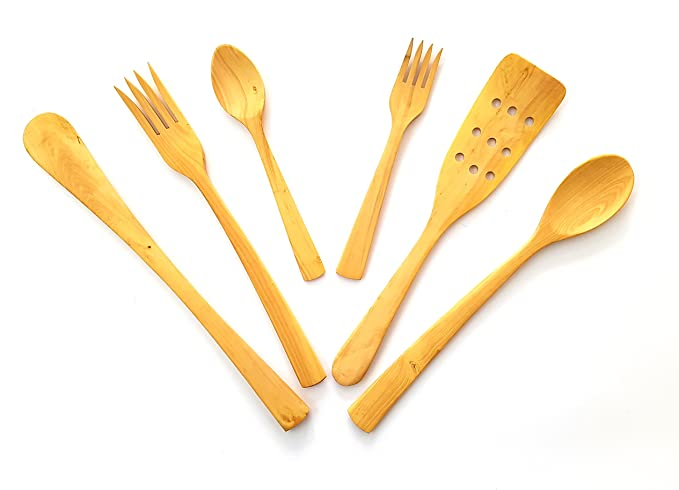 Pack de Utensilios Cocina Madera de boj fabricación Artesanal 6 Piezas: Amazon.es: Equipaje