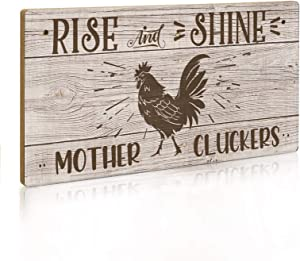 Putuo Decor Funny Chicken Sign, 12