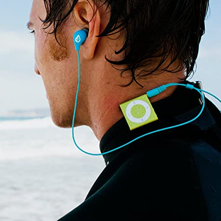 waterfi impermeable Short Cord Auriculares para natación, surf, y running