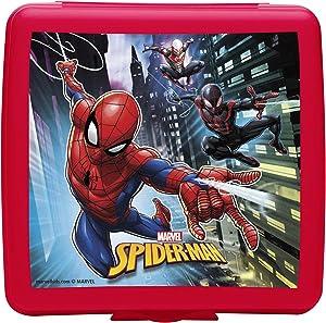 Zak Designs Marvel Comics Reusable Sandwich Container, Spider-Man