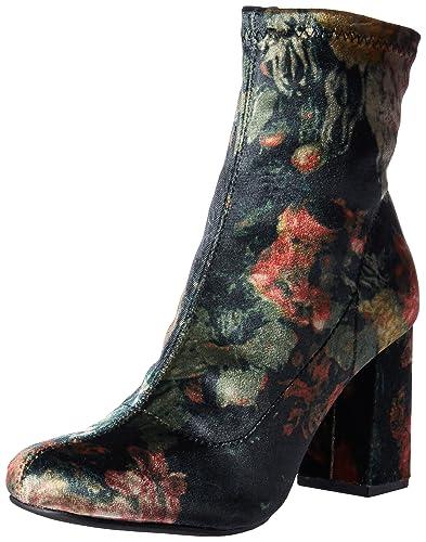 231af378b2d68 MIA Women's Valencia Ankle Bootie, Black/Multi Floral, ...