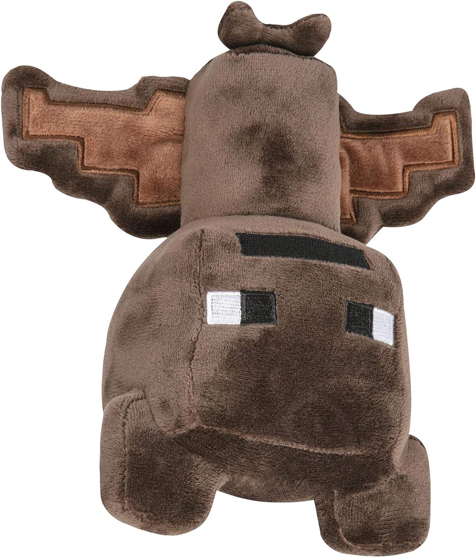 """JINX Minecraft Happy Explorer Bat Plush Stuffed Toy, Brown, 10"""" Tall"""