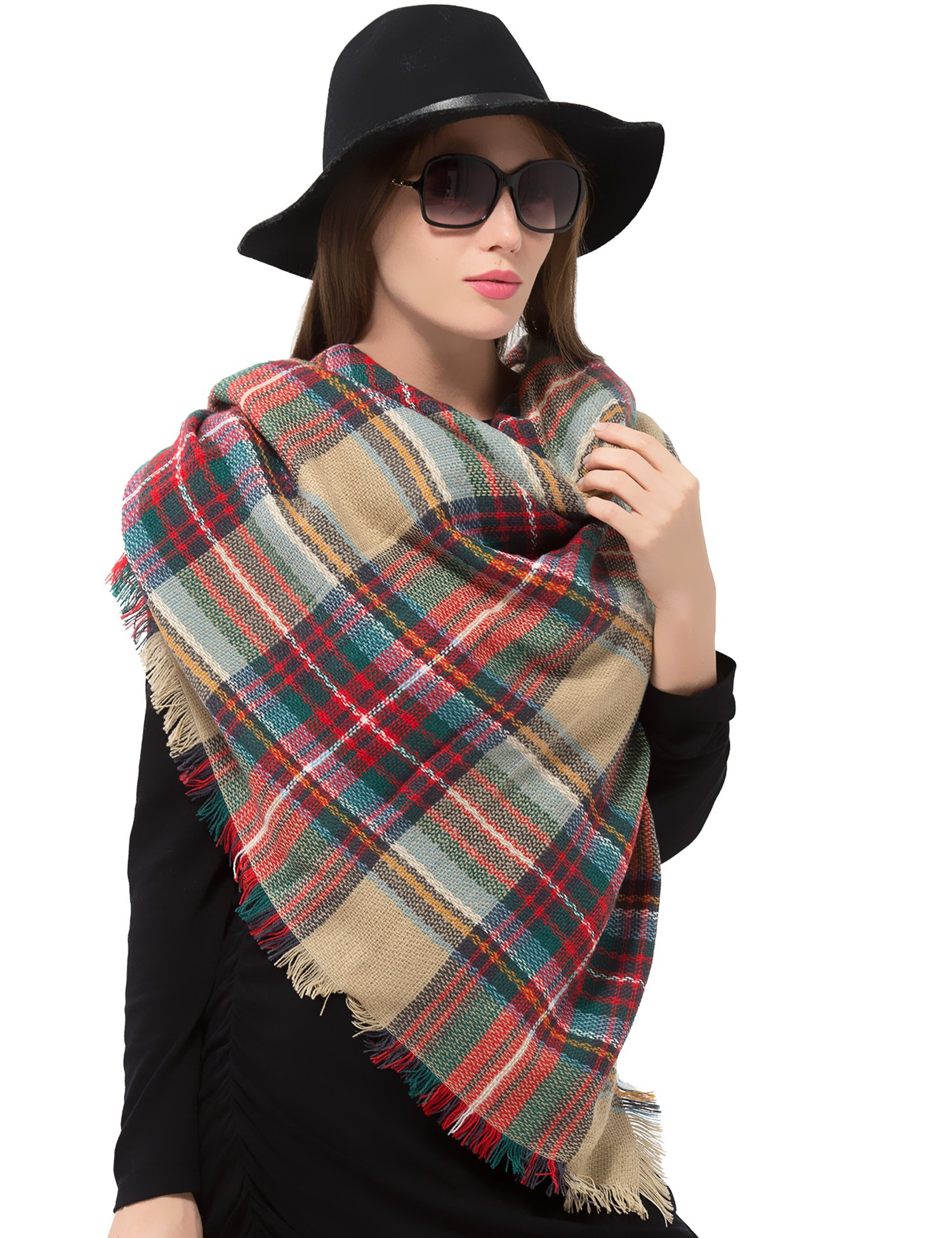 how to wear a large rectangular blanket scarf